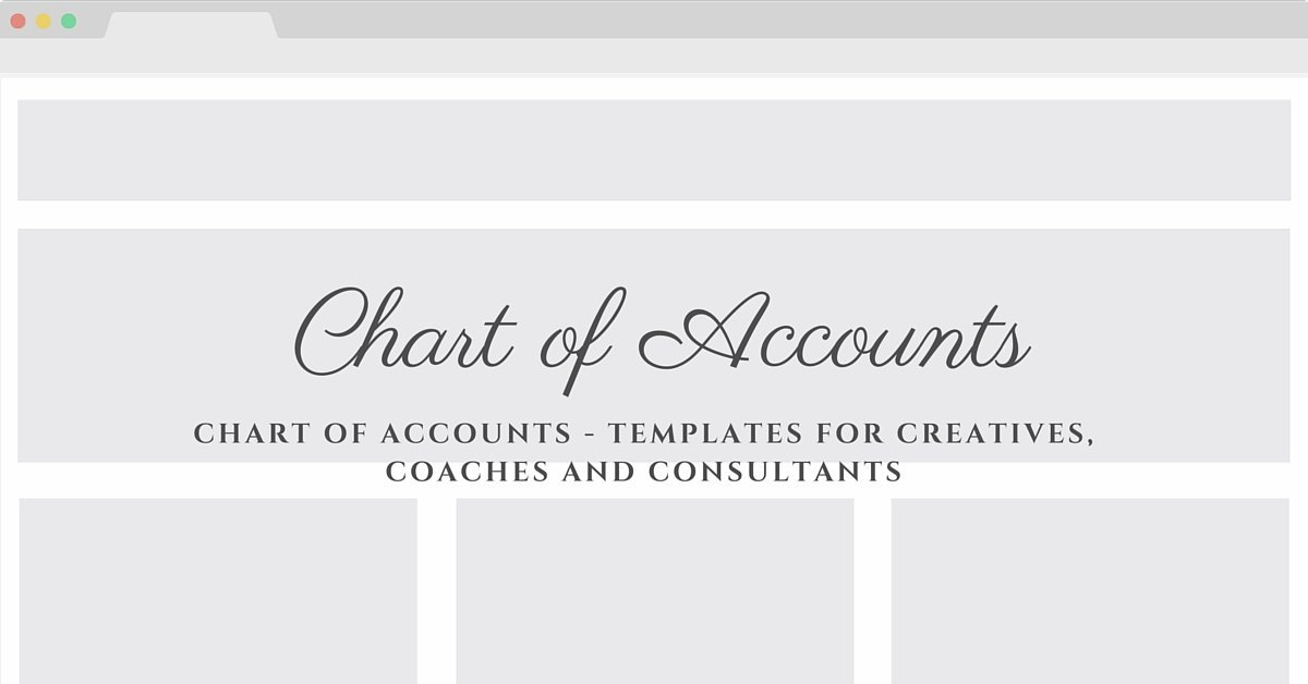 chart of accounts template