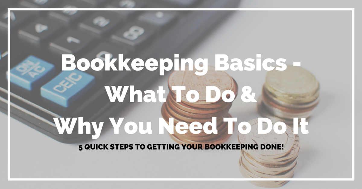 20160624 Bookkeeping Basics