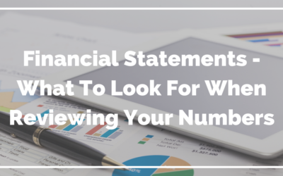 Reading Financial Statements – What To Look For