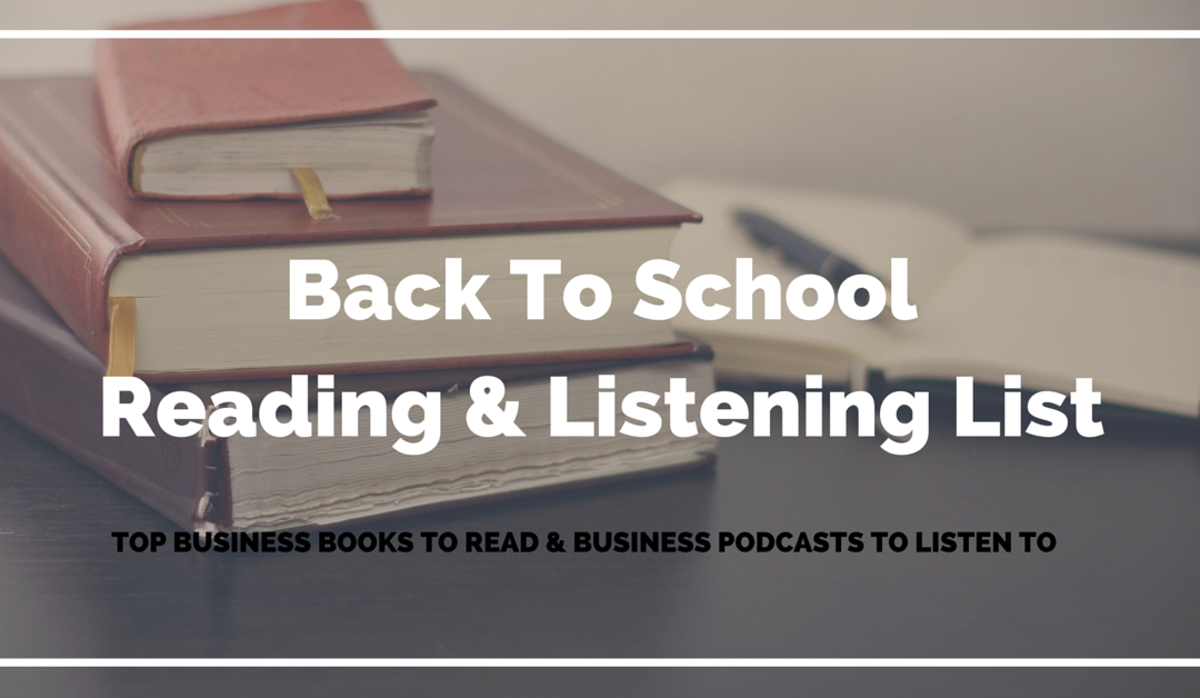 Back To School Reading List