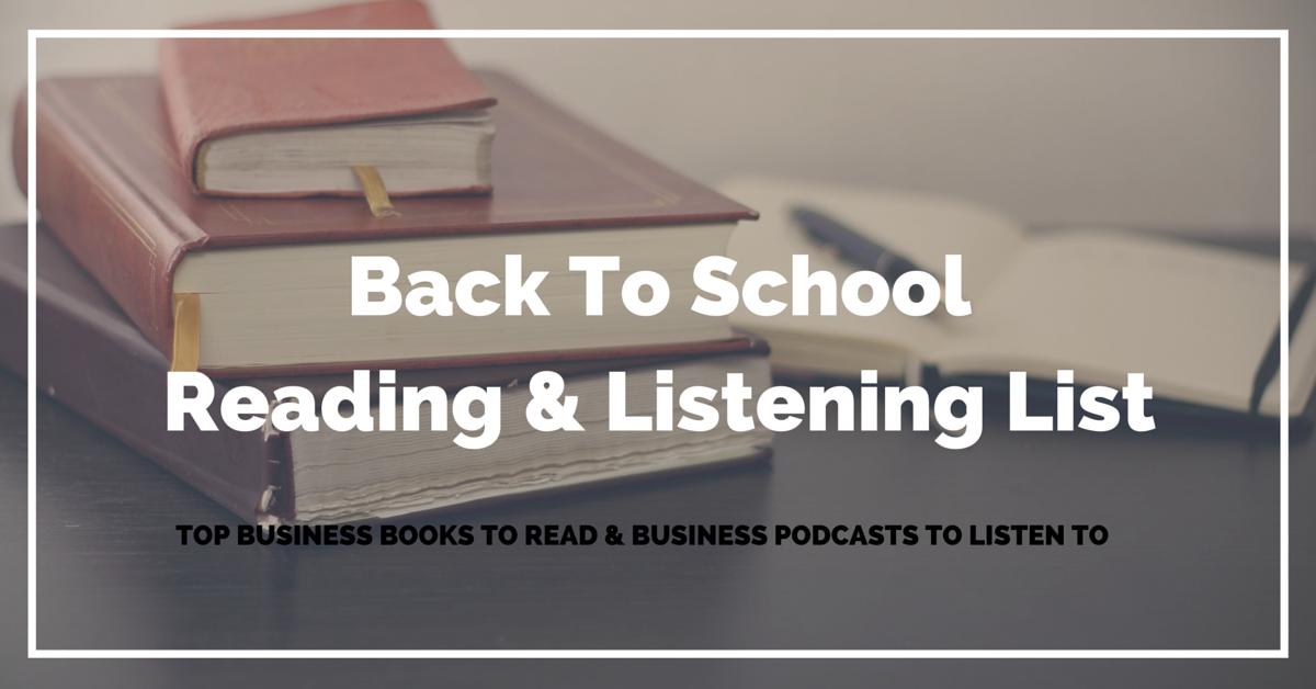 Back to School Reading List & Listening List
