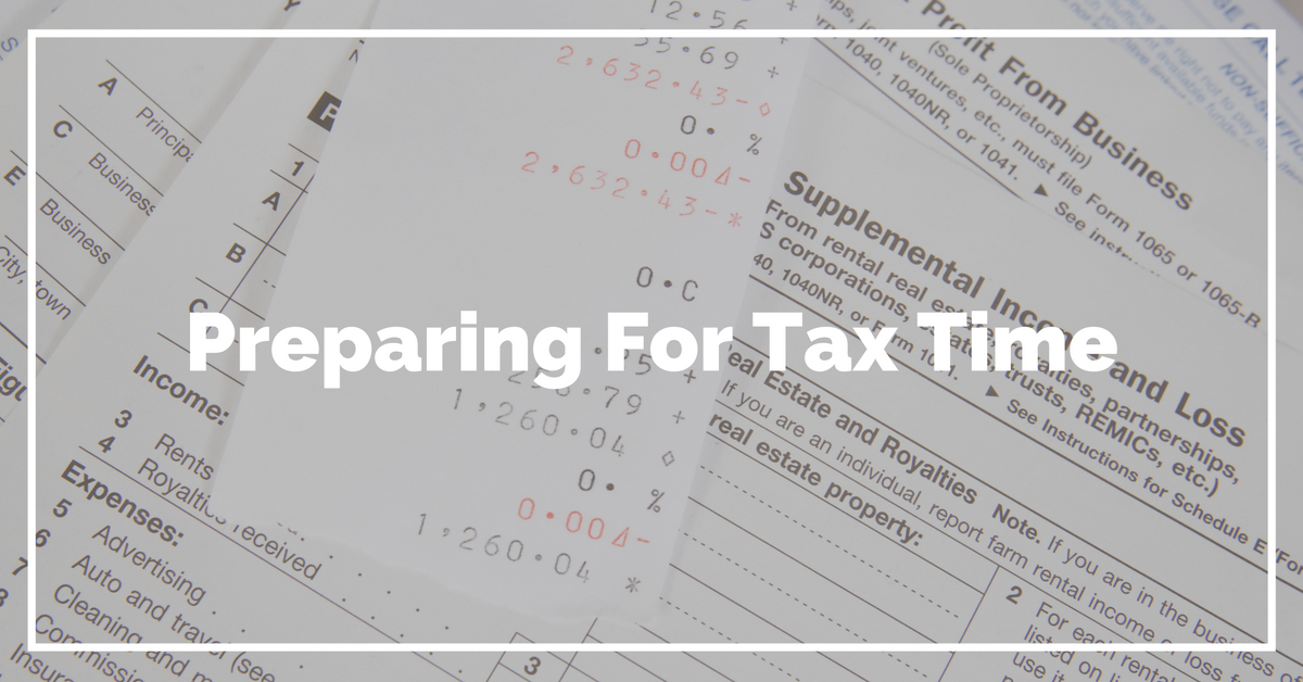 Preparing to Tax Time