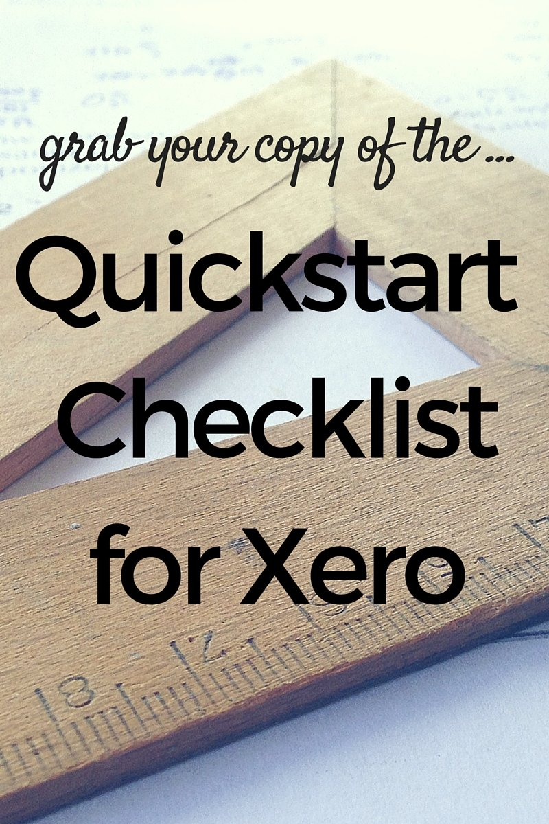 Quickstart Checklist for Xero