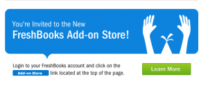 freshbooks add-on store